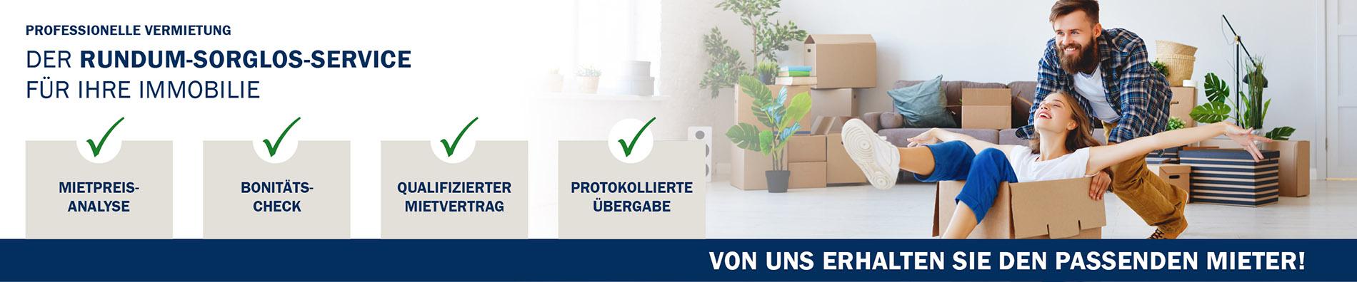 Rommelmann Online Banner Homepage Vermietung
